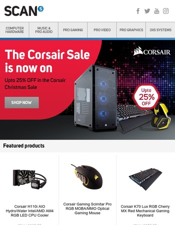 Corsair Christmas Sale now on at SCAN