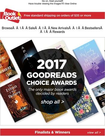 $5 Coupon + 2017 Goodreads Choice Awards