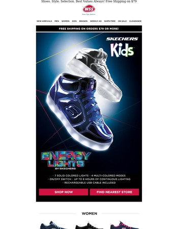 SKECHERS! Performance Gifts for the Family. Plus, Free Shipping