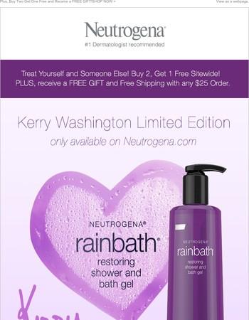 Discover our Kerry Washington Limited Edition Rainbath