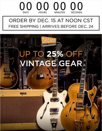 Up To 25% Off Vintage   Win a Dunlop/MXR Prize Pack