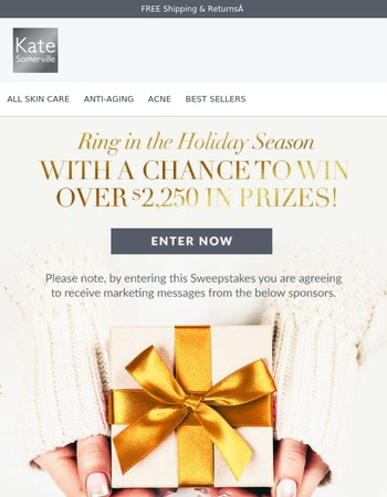Enter to Win Over $2,000 in Prizes!