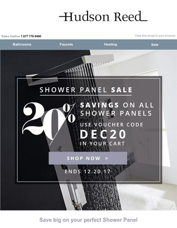 Discount Deals across our full Shower Panel Collection