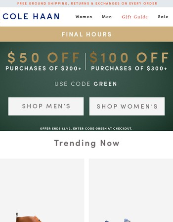 Hours Left! Up to $100 Off Styles You Viewed