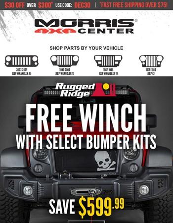 It's Simple... Buy a Bumper Kit - Get a Winch FREE!