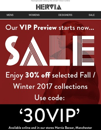 Shop the Hervia VIP Sale preview