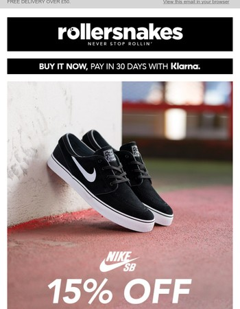 15% off Nike SB - TODAY ONLY!