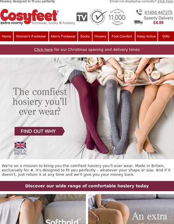 Ultra-comfy hosiery for every shape and size