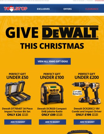 A DeWalt Bundle for Under your Tree!