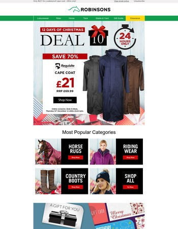 Deal 10 - 70% off an equestrian must-have!