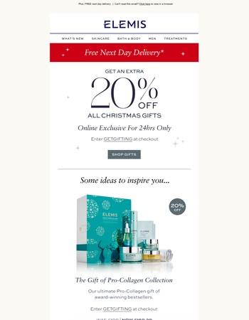 20% off Christmas – get gifting!