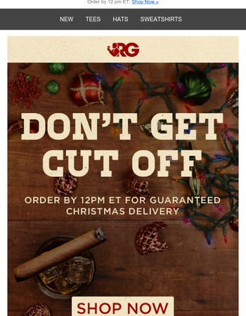 Last Call For Standard Christmas Delivery