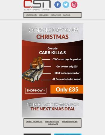 CSN's 2nd Day of Christmas - Grenade Carb Killa Sale!