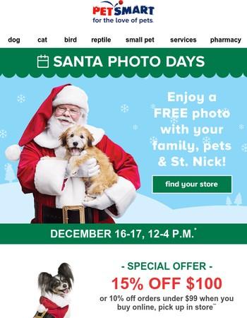 Last chance to visit Santa at PetSmart!