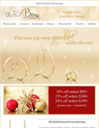 Give Something That Sparkles!Save Up To 20% & Enjoy FREE Shipping!