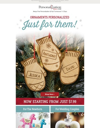 Final Ornament Blowout Sale - Ornaments from only $7.99