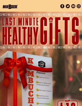 Looking for a Fun, Healthy Gift? Our Kombucha Kit is $10 off!