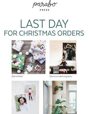 Order by Noon TODAY for Xmas Delivery