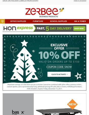 Save on Avery Holiday Labels, Get a Rebate, and Save 10%