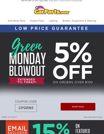 REMINDER: Your Green Monday Special Ends Soon!