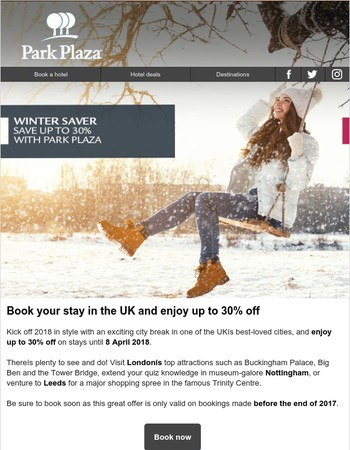 Up to 30% off with the Winter Sale | Get ready for Christmas with our Gift Cards