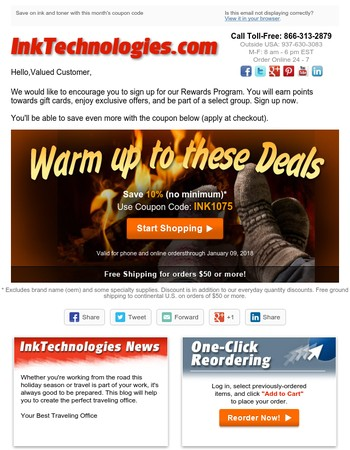 Your Monthly InkTechnologies Coupon