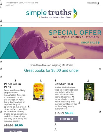 [LIMITED TIME OFFER] Books for world travelers, dog lovers & more starting at $6!