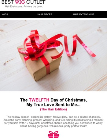 12 Days of Christmas: The Hair Edition