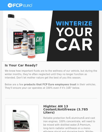 Winter Is Coming - Is Your Car Ready?