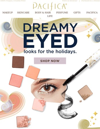 Dreamy eyed looks for the holidays