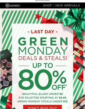 HOURS LEFT for Green Monday deals! Save up to 80% now!✨