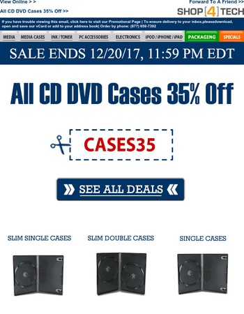 All CD DVD Cases 35% Off