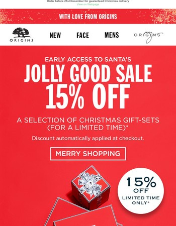 Early Access: 15% OFF Christmas Gift-sets