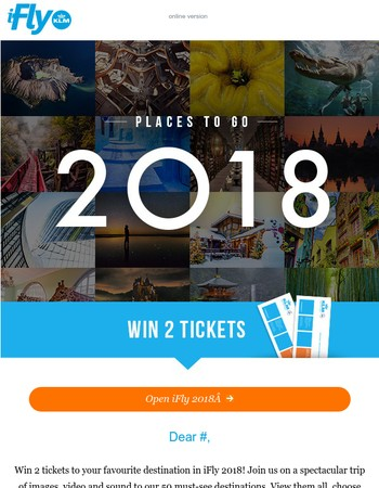 Win 2 tickets to your favourite destination!