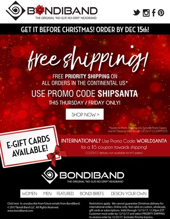 Wrap up your gift list with free shipping!