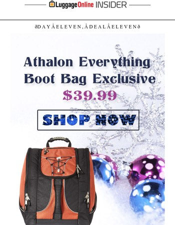 Day Eleven : $39.99 Atahlon Winter Boots Backpack! ��