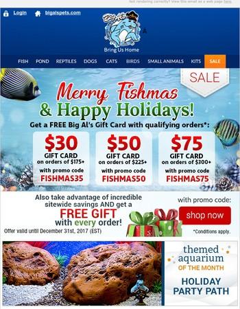 Merry Fishmas  - Get a FREE Big Al's Gift Card!