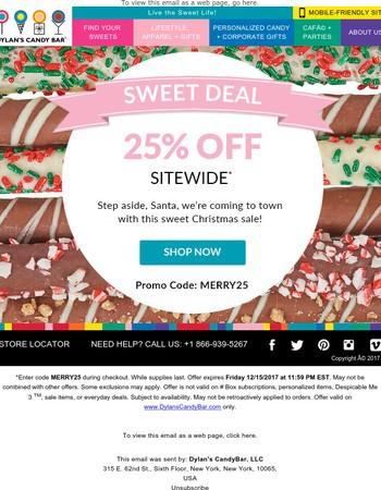 Last Chance! Enjoy 25% Off Sitewide