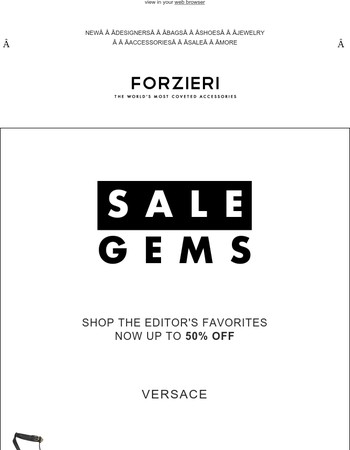 Sale Gems by Versace | Marni | Balmain | Alexander Wang & More