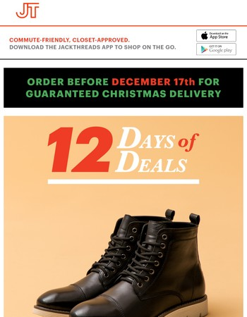 Boots Starting At $49.99: The 12 Days of Deals!