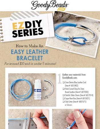 Popular DIY - Easy Leather Bracelet