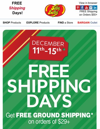 Free Shipping - Only 2 Days Left!