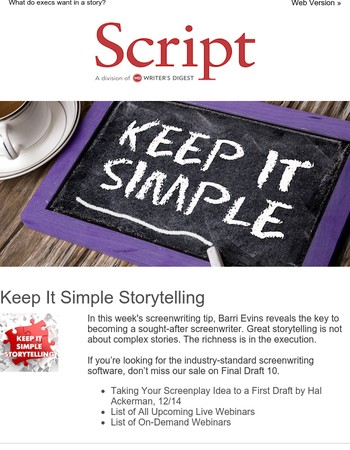 Keep It Simple Storytelling