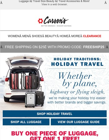 Tis the Season for Holiday Travel & We've Got Everything You Need!