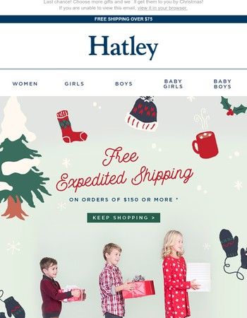 Get FREE upgraded shipping for Christmas delivery until Sunday