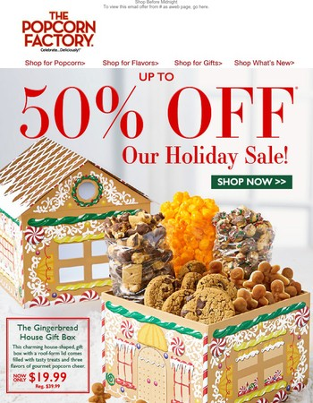 Save 50% in our Holiday Sale!