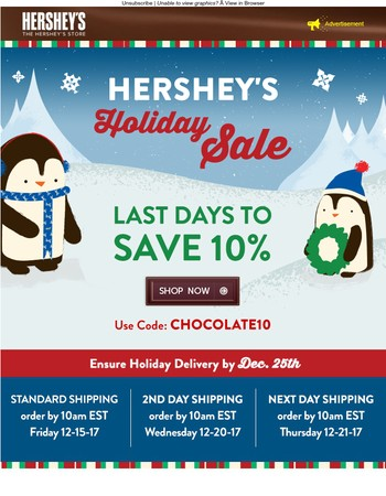 Last chance for holiday savings!
