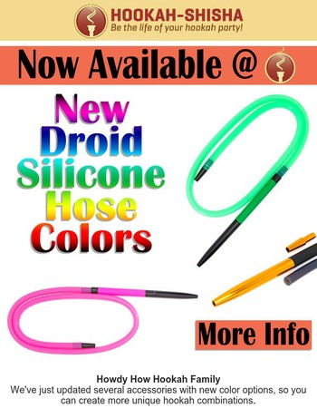 ☞15+ New Color Options To Customize Your Hookah☜