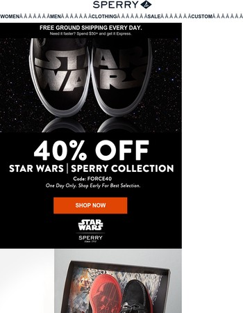 FINAL HOURS: 40% OFF Star Wars Styles!