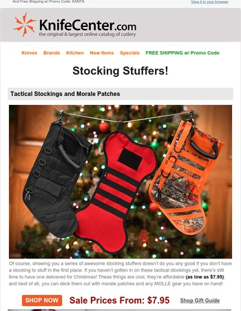 9 Great Stocking Stuffers...and the Stocking Too!